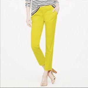 J. Crew cafe capri neon pants size 6